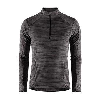 Camiseta hombre GRID negro jaspeado