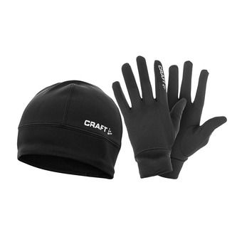 Pack gorro y guantes HYBRID PACK negro