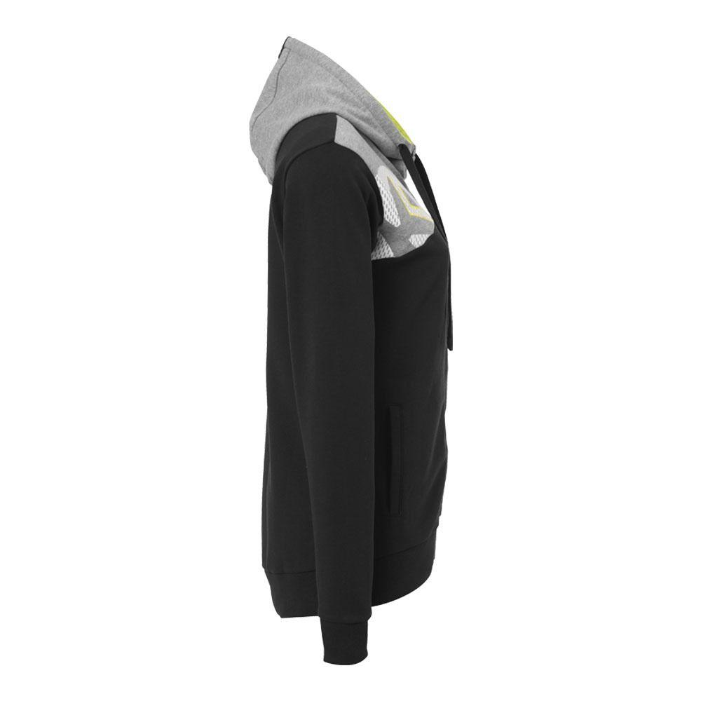 Jacket 0 Chiné Kempa Noirgris Core Foncé Sweat Hood 2 Femme TOiwkZPXu