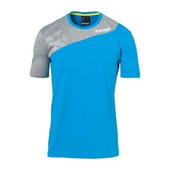 Kempa CORE 2.0 - Camiseta hombre blue/dark grey heather