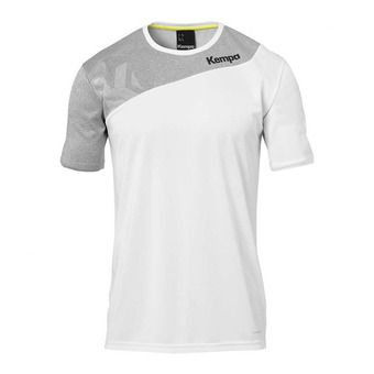 Kempa CORE 2.0 - Camiseta hombre white/dark grey heather