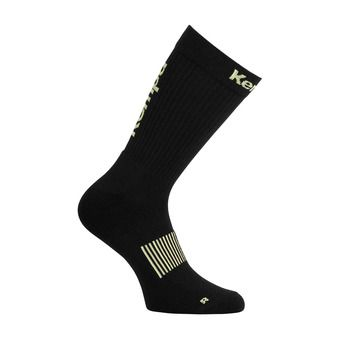 Kempa LOGO CLASSIC - Calcetines black/yellow fluo