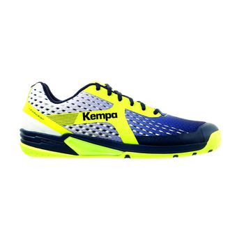 Kempa WING - Chaussures hand Homme bleu marine/blanc/jaune