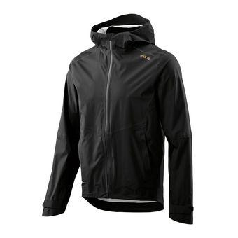 SKINS Activewear Jedeye Nano 3L Mens Rain Jacket Black Homme Black