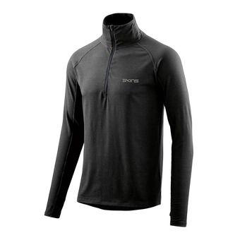 SKINS Activewear Unden Light Midlayer Mens L/S Fleece 1/2 Zip Charcoal Marle Homme Charcoal Marle