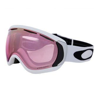 Masque de ski CANOPY matte white/prizm hi pink