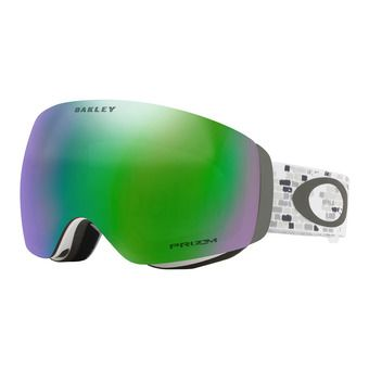 Oakley FLIGHT DECK XM - Masque ski lv sig snowed in stealth/prizm jade iridium