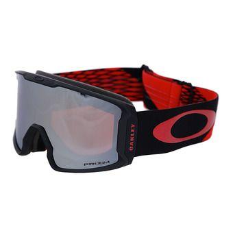 Oakley LINE MINER - Masque ski harlaut sig shredbot red black/prizm snow black iridium