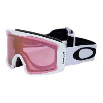 Oakley LINE MINER XM - Gafas de esquí matte white/prizm hi pink iridium