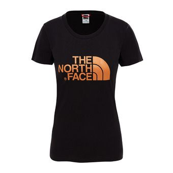 The North Face EASY - Tee-shirt Femme tnf black/metallic copper