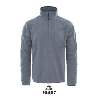 54f9e14309 THE NORTH FACE. Polaire 1/2 zippée Polartec® homme 100 GLACIER tnf medium grey  heather/high