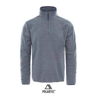 The North Face 100 GLACIER - Pile Uomo tnf medium grey heather/high rise grey