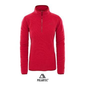 The North Face 100 GLACIER - Polaire Femme rumba red/cerise pink stripe