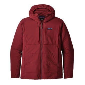 Veste à capuche homme NANO-AIR oxide red