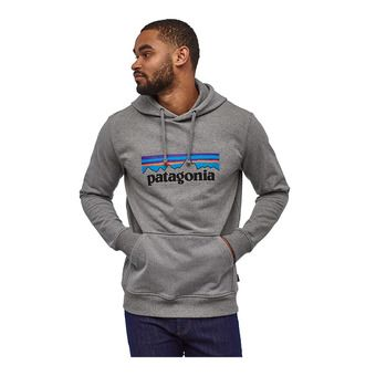 Patagonia P-6 LOGO UPRISAL - Sweat Homme gravel heather