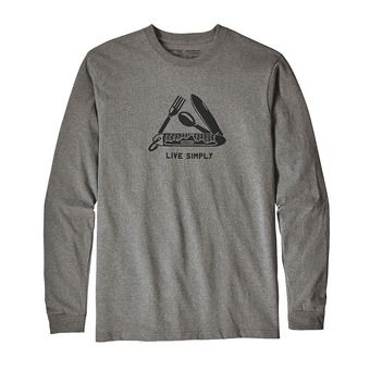 Tee-shirt ML homme LIVE SIMPLY POCKETKNIF RESPONSABILI-TEE gravel heather