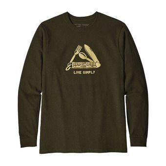 Tee-shirt ML homme LIVE SIMPLY POCKETKNIF RESPONSABILI-TEE sediment