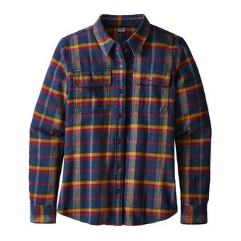 Camisa mujer FJORD FLANNEL rebel arrow red