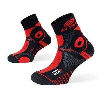 Bv Sport STX+ EVO - Chaussettes noir/rouge