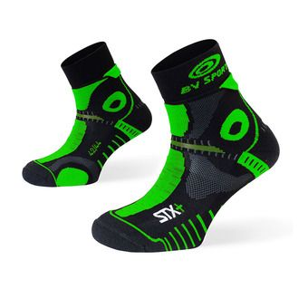 Chaussettes de trail STX+ EVO noir/vert