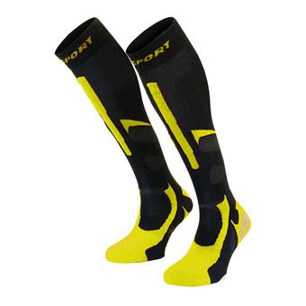 Bv Sport SLIDE PRO EVO - Socks - black/yellow