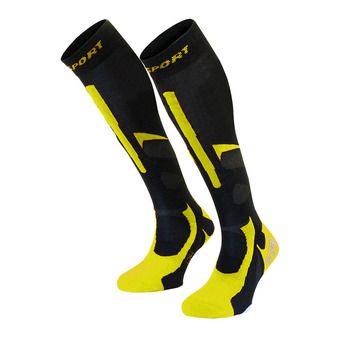 Chaussettes de ski SLIDE PRO EVO noir/jaune