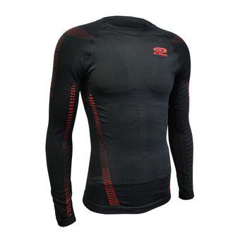 Camiseta hombre RTECH LONG negro/rojo