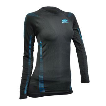 Camiseta mujer RTECH LONG negro/azul