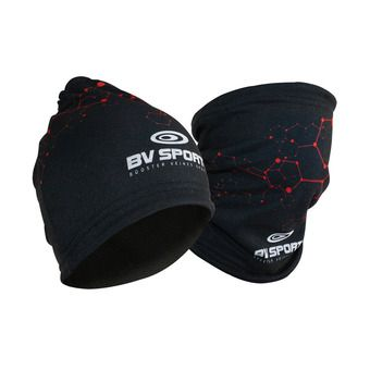 Bonnet multifontions 3en1 BVS noir/rouge