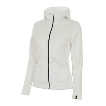 Polaire à capuche zippée femme STELLAR white/silver