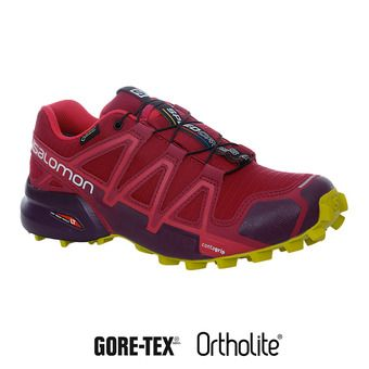 Salomon SPEEDCROSS 4 GTX - Zapatillas de trail mujer beet red/poten