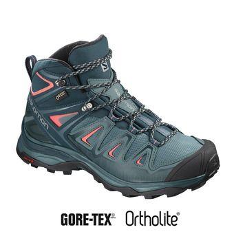 Salomon X ULTRA 3 GTX - Zapatillas de senderismo mujer hydro/refle