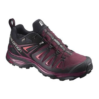 Salomon X ULTRA 3 GTX - Hiking Shoes - Women's - port/bk/liv