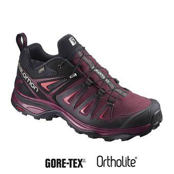Salomon X ULTRA 3 GTX - Chaussures randonnée Femme twny port/black/living coral