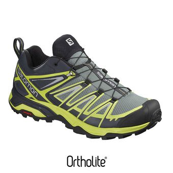 Salomon X ULTRA 3 - Zapatillas de senderismo hombre lead/graphite/acid lime