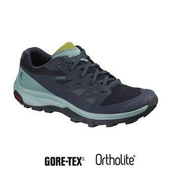 Salomon OUTLINE GTX - Hiking Shoes - Women's - trellis/navy blaze