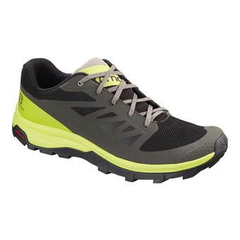 Salomon OUTLINE - Hiking Shoes - Men's - beluga/lime green/vintage