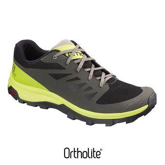 Zapatillas de senderismo hombre OUTLINE beluga/lime green/vintage