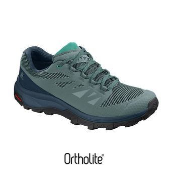 Salomon OUTLINE - Zapatillas de senderismo mujer trellis/reflecting/atlan