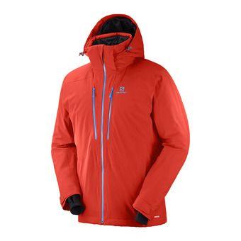 Salomon ICEFROST - Chaqueta de esquí hombre fiery red