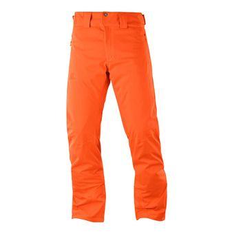 Salomon STORMRACE - Pantalón de esquí hombre shocking orange