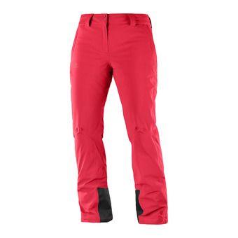 Salomon ICEMANIA - Pantalon ski Femme hibiscus