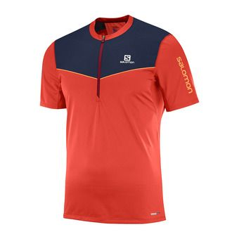 Maillot MC 1/2 zip homme FAST WING HZ fiery red
