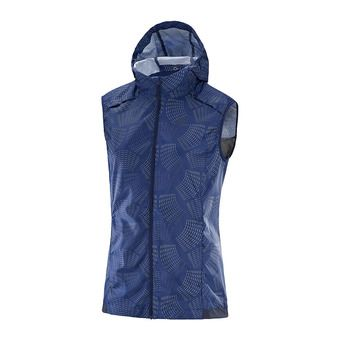 Chaleco mujer AGILE WIND medieval blue