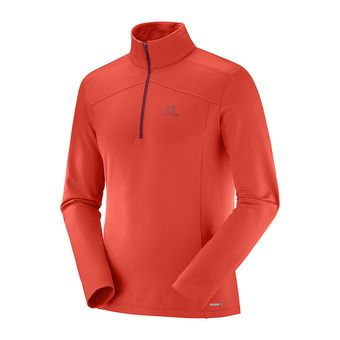 Sous-couche ML 1/2 zip homme DISCOVERY LT HZ fiery red