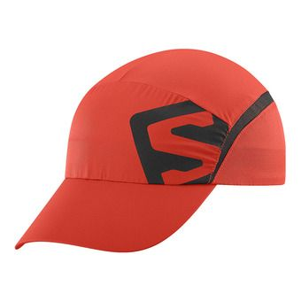 Gorra XA fiery red/black