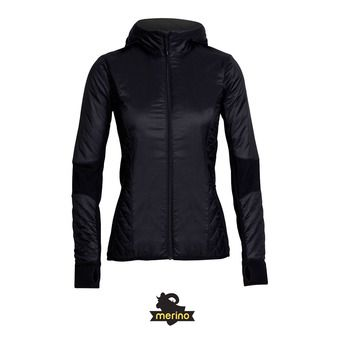Veste à capuche femme HELIX black/jet