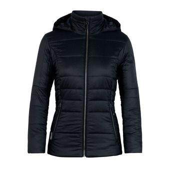 Sweat zippé à capuche femme STRATUS black/jet hthr