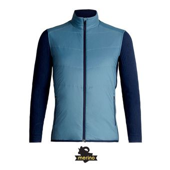 Icebreaker DESCENDER - Veste Homme granite blue/dk night hthr