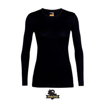 Icebreaker 200 OASIS LS CREWE - Sous-couche Femme black